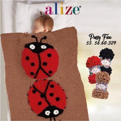 Alize Puffy Fine Color, 100 g., 14.5 m. 6