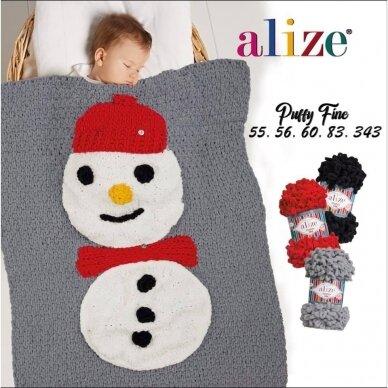 Alize Puffy Fine Color, 100 g., 14.5 m. 10